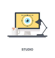 studio icon concept vector image