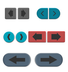 Stylish multicolored web buttons with 3d effec vector