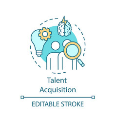 Talent acquisition concept icon vector