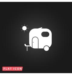 Travel trailer flat icon vector image