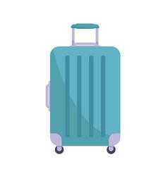 trolley bag flat vector image