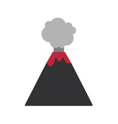 volcano flat ico vector image