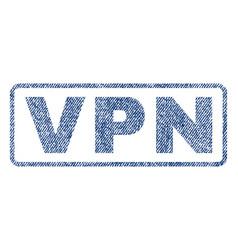 vpn textile stamp vector image