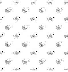 watering can pattern seamless vector image