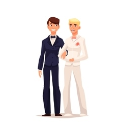 wedding of two gay vector image