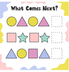 What comes next puzzle for kids continue the vector