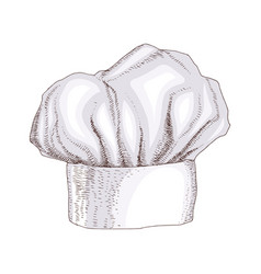 white chef hat isolated on background vector image