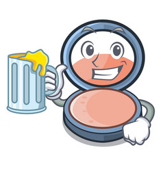 With juice blosh on the mascot dressing table vector
