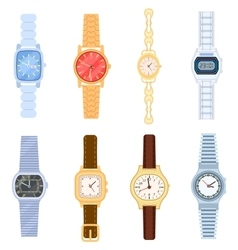 Wrist watch isolated set vector