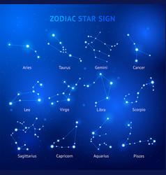 zodiac horoscope star signs vector image
