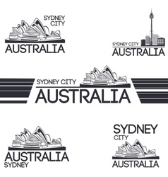 Sydney city set vector image vector image