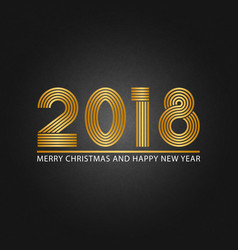 2018 happy new year and merry christmas shiny vector image