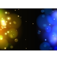 Abstract yellow and blue light background vector image