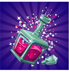 magical elixir game design concept magic bottle vector image