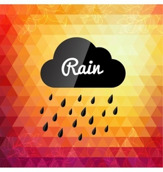 Retro styled autumn rain cloud design card vector image