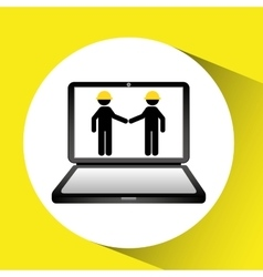 under construction web page team worker vector image vector image