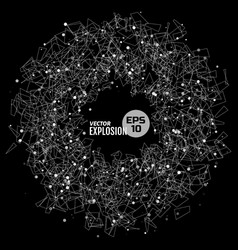 abstract explosion vector image