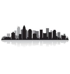 Charlotte USA city skyline silhouette vector image