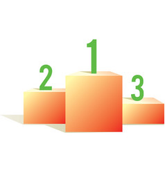 pedestal with numbers vector image