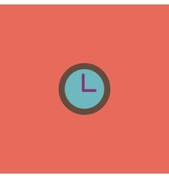 time clock icon vector image vector image
