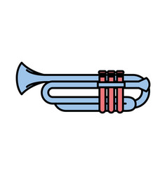 trumpet instrument isolated icon vector image