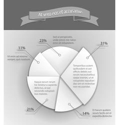 3D business pie chart vector image