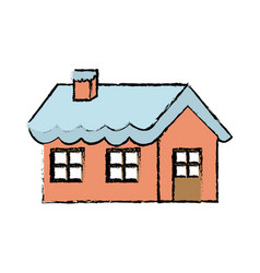 Gingerbread house decorated candy icing and sugar vector