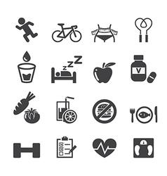 Health icon set vector