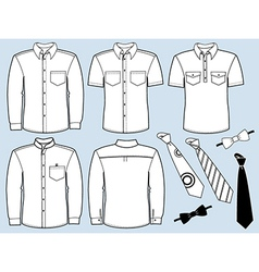 Man shirts and necktiesFashion clothes vector image vector image