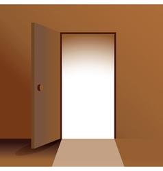 Open doors vector image vector image