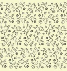 seamless spring pattern vector image
