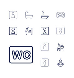 13 washroom icons vector