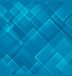 Abstract blue square shape technology laser vector