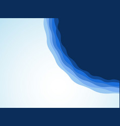 Abstract blue waves water background vector