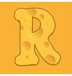 Alphabet Cheese vector image