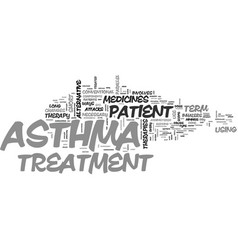 Asthma treatment ways text word cloud concept vector