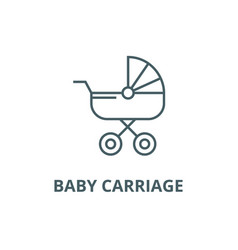 bacarriage line icon bacarriage vector image