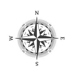 black wind rose vector image
