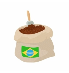 Brazilian coffee icon cartoon style vector