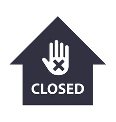 building closed icon stop hand gesture vector image