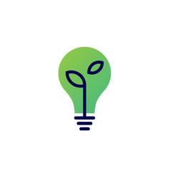bulb leaf logo icon vector image