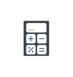 calculator related glyph icon vector image
