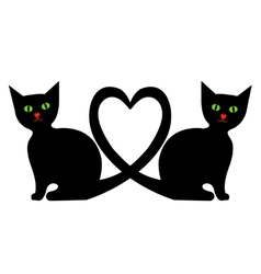 Cats with heart vector image