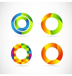 Circle logo set vector image