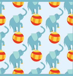 Circus funny performance elephant animal vector