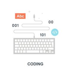 coding icon concept vector image