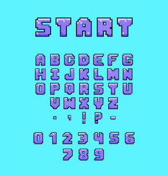 colorful arcade font vector image