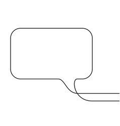Continuous line drawing rectangular speech vector