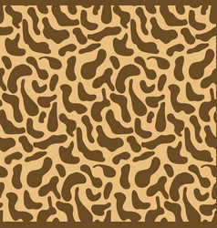 cute brown pattern with hand drawn giraffe spots vector image
