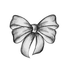 decorative realistic vintage bow isolated on vector image